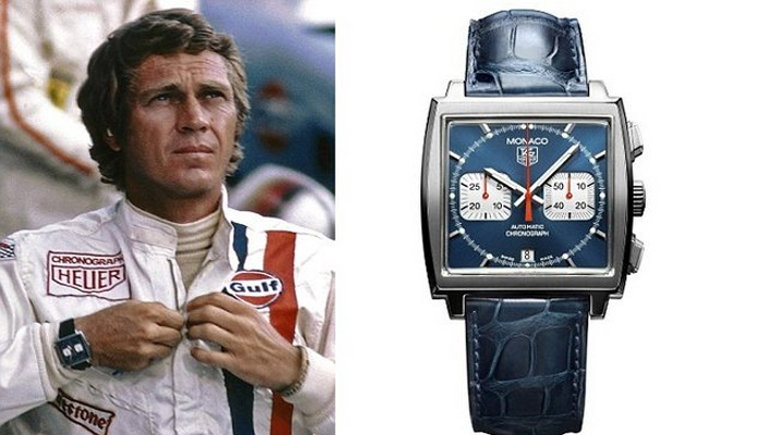 retro racing style with the tag heuer monaco watch bloke and fella. Black Bedroom Furniture Sets. Home Design Ideas
