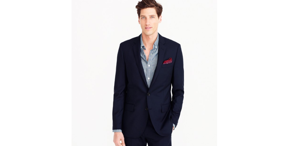 Ludlow suit jacket with double vent in Italian wool - J Crew
