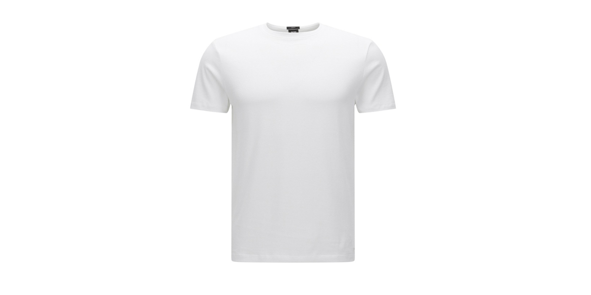 'Tessler' | Cotton Mesh Texture T-Shirt by BOSS