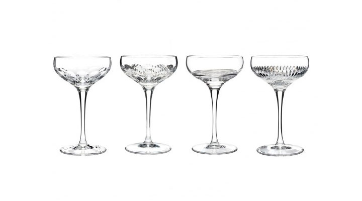 Waterford Mixology Assorted Clear Champagne Coupe