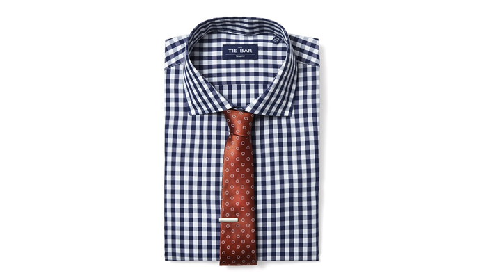 tie bar shirt and tie