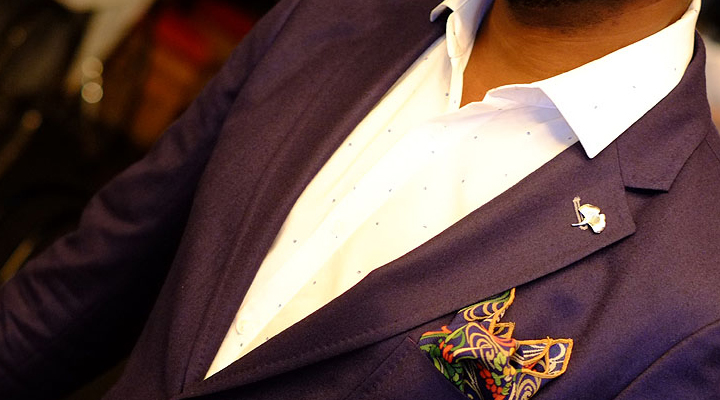 pocket square and lapel